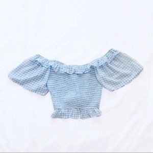 asos fashion union ⋆ sheer gingham top